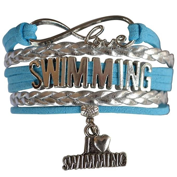 Swim Bracelet- Girls Swimming Bracelet- Swim Jewelry - Perfect Gift For Swimmers
