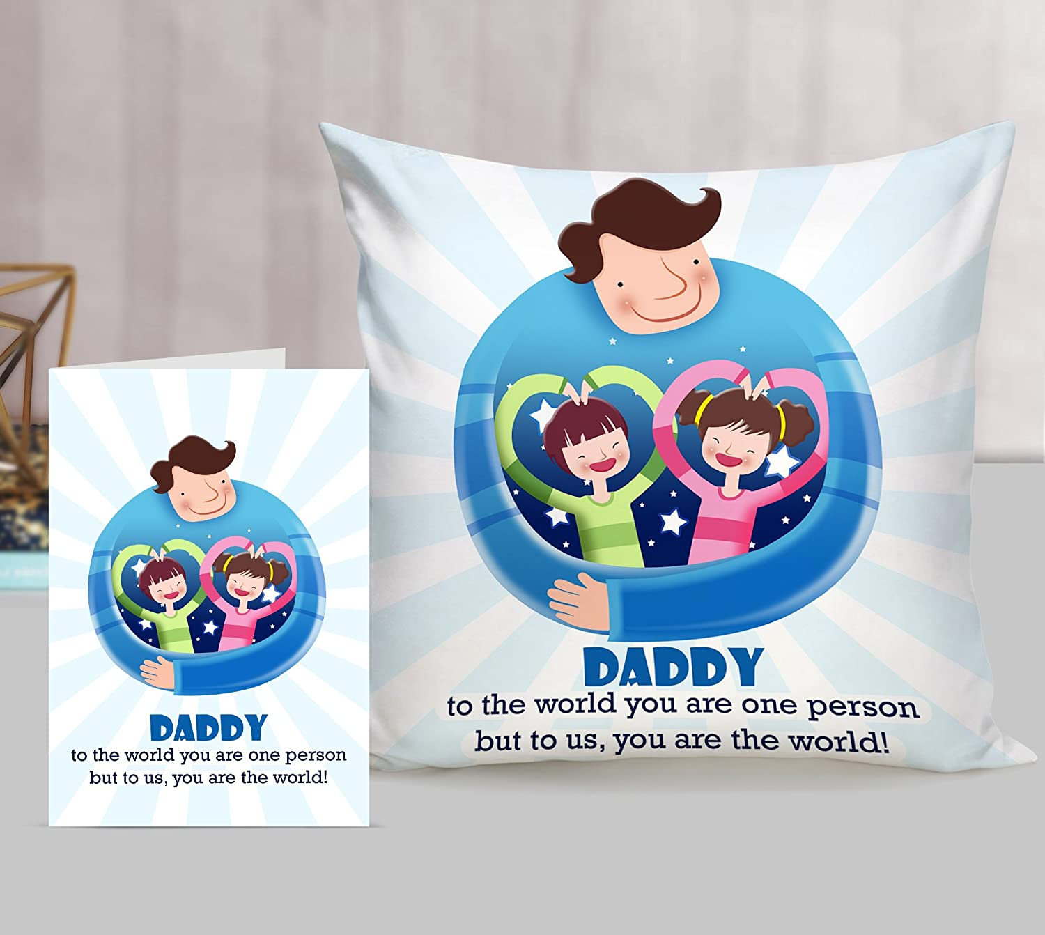 af7c6f03 Buy TIED RIBBONS Birthday Gift for Best Dad Printed Cushion(12 inch X 12  inch, Satin, Multicolor) with Free Filler and Greeting Card Online at Low  Prices in ...