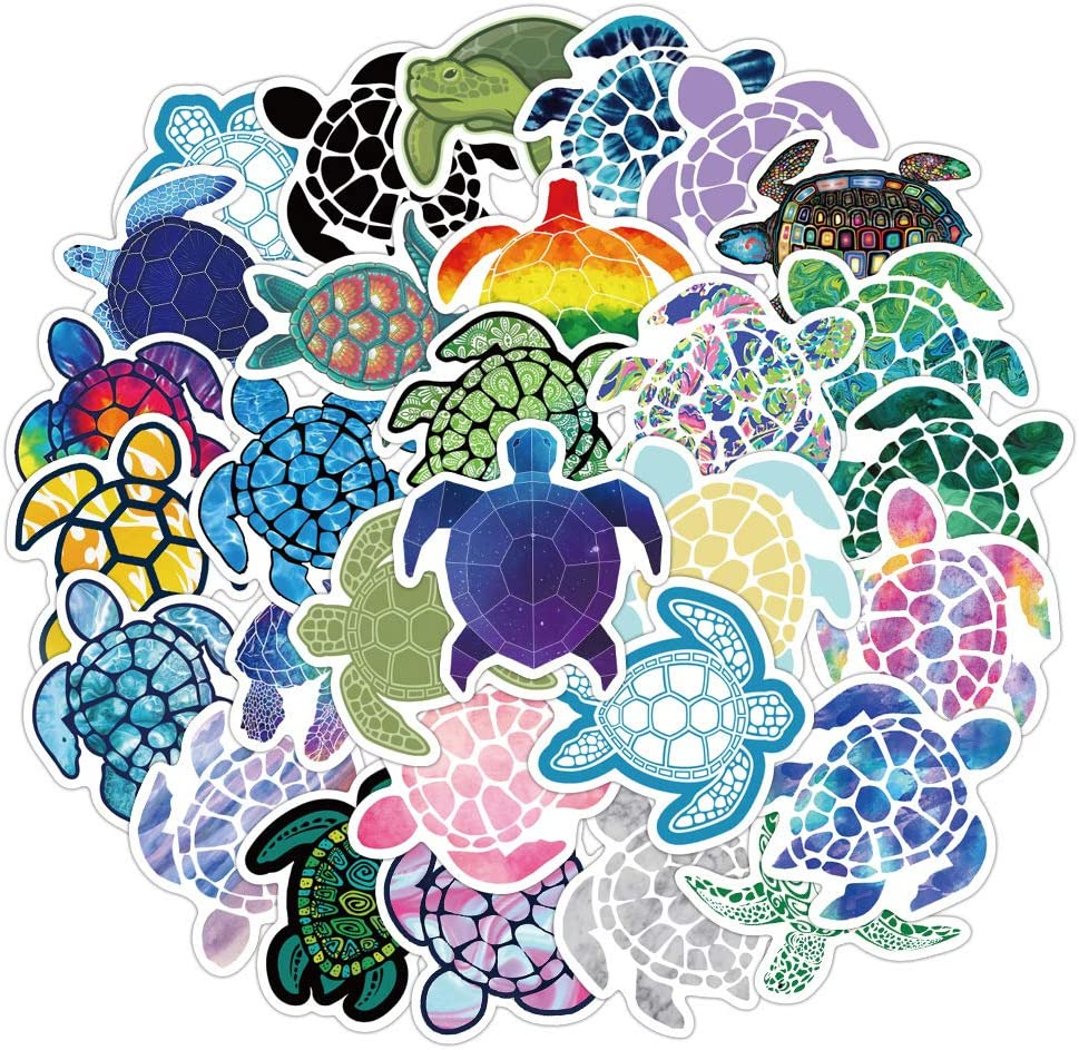 41 Pcs Cute Lovely Sea Animals Turtle Stickers for Kids Toddlers Teens Boys Girls,Trendy Aesthetic Stickers Decals for Laptop Computer Hydroflask Bicyle Water Bottle Cup Guitar Car Refrigerator.