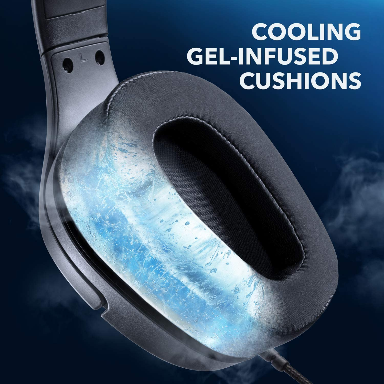 and Cooling Gel-Infused Cushions Anker Soundcore Strike 3 Gaming Headset Noise Isolating Mic PS4 Headset Sound Enhancement for FPS Games 7.1 Surround Sound LED Light PC Headset