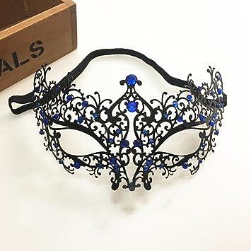 Máscara veneciana para Halloween, máscara brillante con corte láser de diamante, máscara hueca de