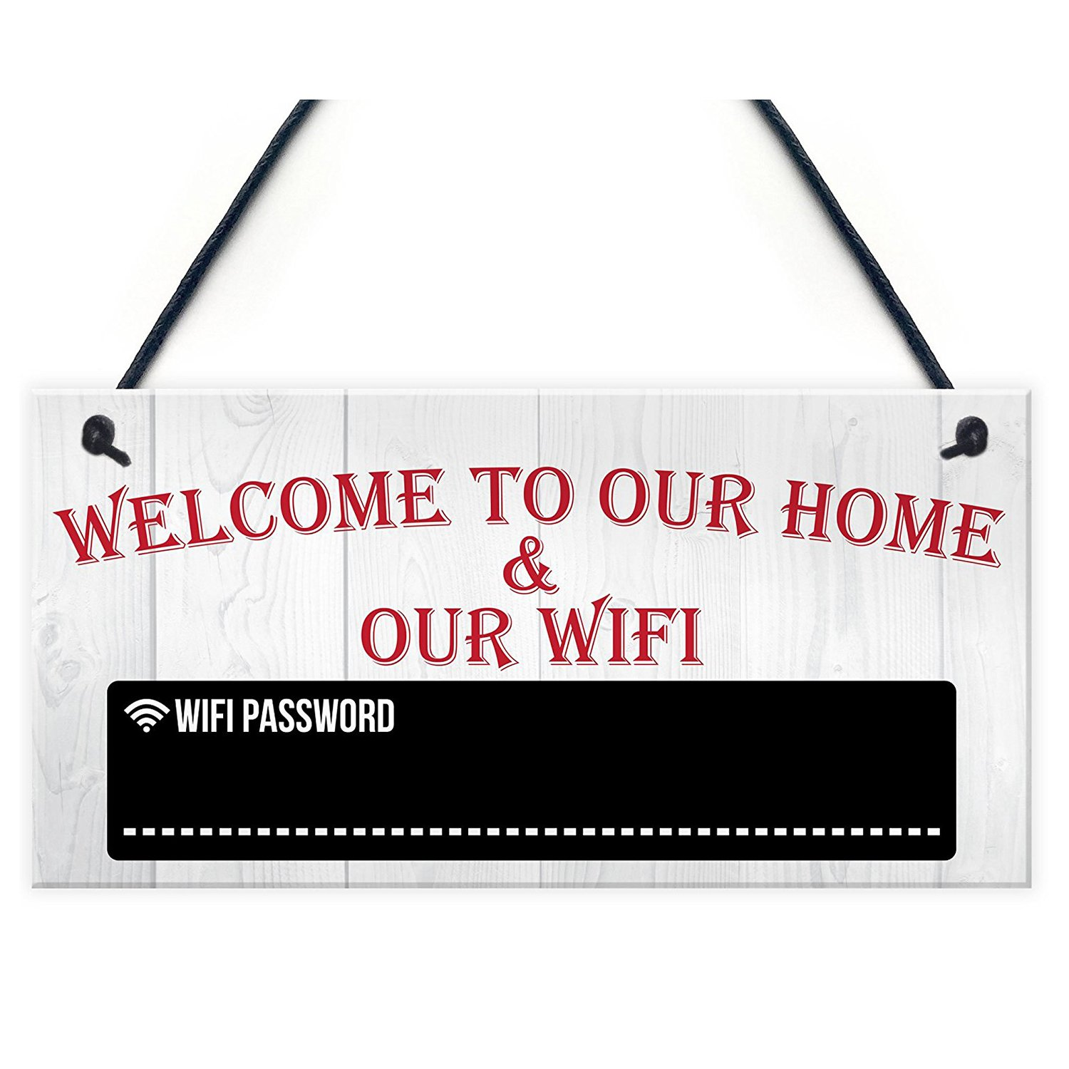 Wall Hanging Decoration Wooden Wifi Password Door Signs Welcome Door Plques