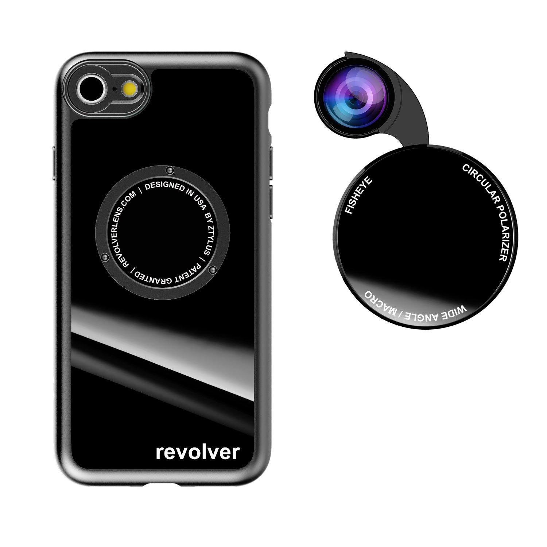Funda y 4  Lentes Ztylus Revolver p/ iPhone 7/8 - Gloss B...