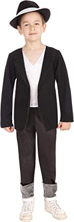 Bristol Novelties - Disfraz infantil de Michael Jackson, talla 8-10 años