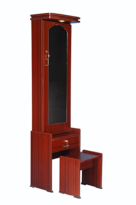 finest selection 62a1a 1aa24 Generic Dressing Table With Storage, Light & Stool In Rosewood Color
