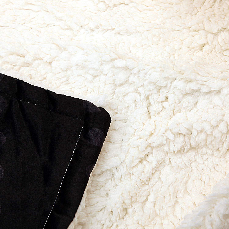 Football Team Sports Style Hooded Blanket 3D Printing Soft Fleece Sherpa Throw Blanket Soft Warm Air Blanket 50 x 60 Chicago Bears