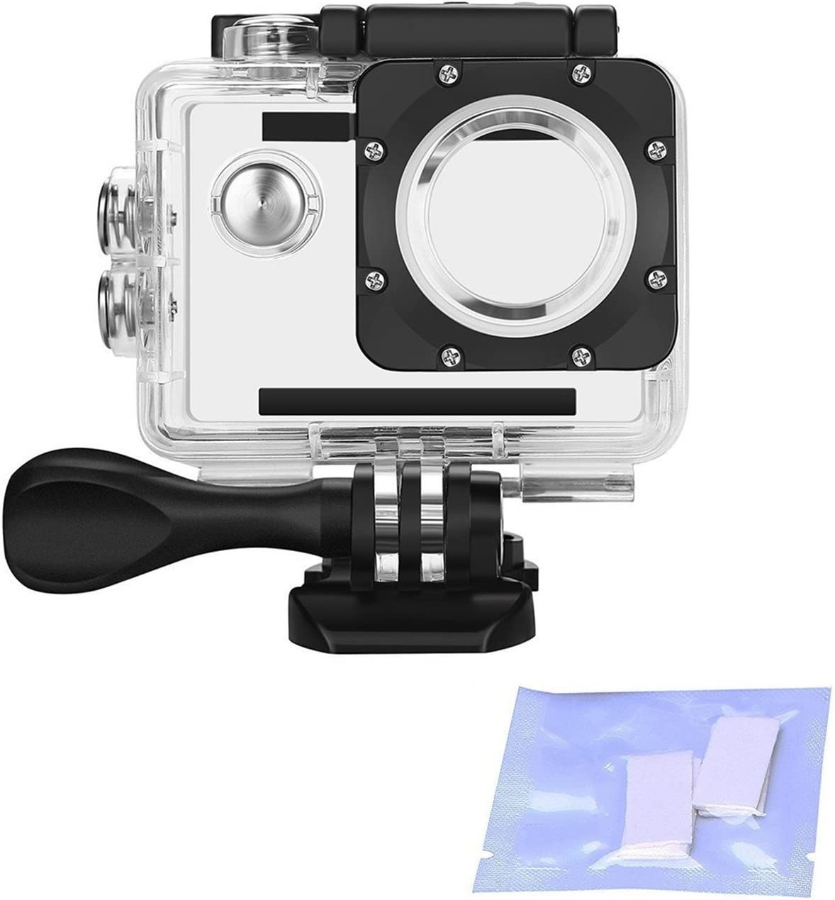 Navitech 50-in-1 Action Camera Accessories Combo KIt with EVA Case Compatible with The Nilox Mini UP Waterproof Compact Action Video Camera