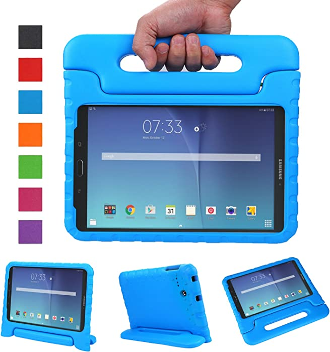 NEWSTYLE Tab E 8.0 Kids Case - Shockproof Light Weight Protection Handle Stand Kids Case for Samsung Galaxy Tab E 8.0 Inch 2015 Tablet (Not Fit Other Tablet) (Blue)