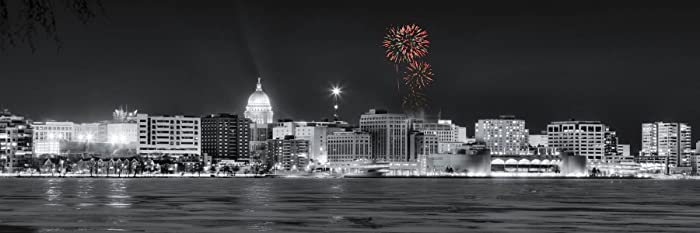 amazon com madison wisconsin skyline new years eve fireworks