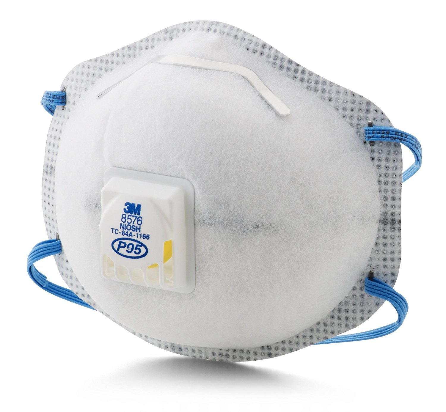 3M Particulate Respirator 8576, P95, with Nuisance Level Acid Gas Relief, 1 Case of 10, 10 per box, 100 Respirators