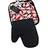 Best Brands Mickey Mouse - Mickey Gloves Pattern 2-Piece Kitchen Set, Oven Mitt and Pot Holder - by Disney