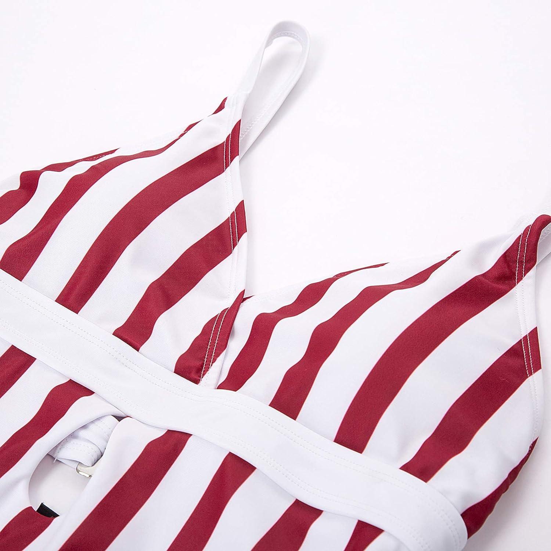 Curlbiuty Womens One Piece Swimsuits Spaghetti Strap Ruffle Swimwear Bathing Suit