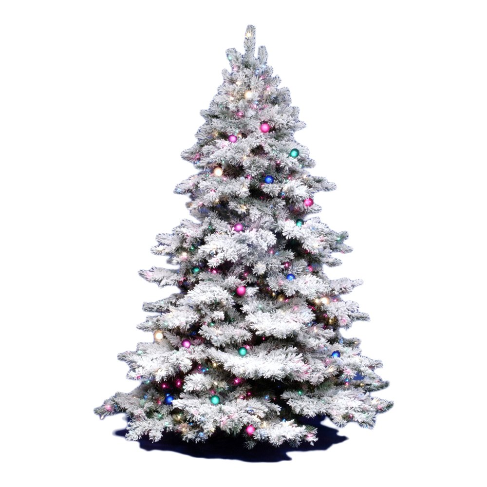 Amazon.com: Vickerman 3Ft. Flocked Alaskan Unlite White on Green ...