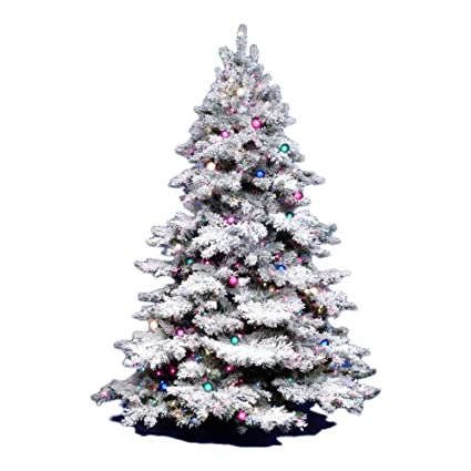 vickerman 3ft flocked alaskan unlite white on green christmas tree w 116 tip - Amazon White Christmas Tree