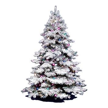 3ft White Christmas Tree.Vickerman 3ft Flocked Alaskan Unlite White On Green Christmas Tree W 116 Tip