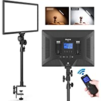 Dazzne D50 Desk Mount Video Light with C-Clamp, LED Studio Photography Light with Wireless Remote, 15.4 Inches 45W 3000K-8000K 3600LM Dimmable 0-100% for YouTube Instagram Tiktok Live/Game Streaming
