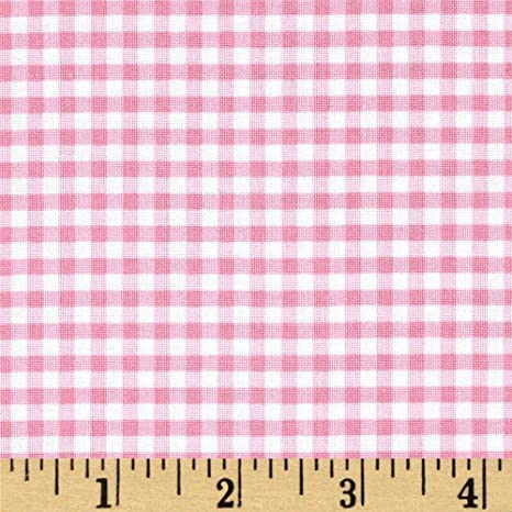 "1//2/"" GINGHAM DESIGN 100/% COTTON FABRIC AVAILABLE IN PINK AND YELLOW"
