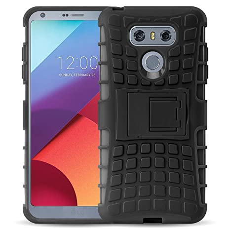 JAMMYLIZARD Funda LG G6, Carcasa Militar [ Alligator ] Alta Resistencia Heavy Duty Case Back Cover, Negro