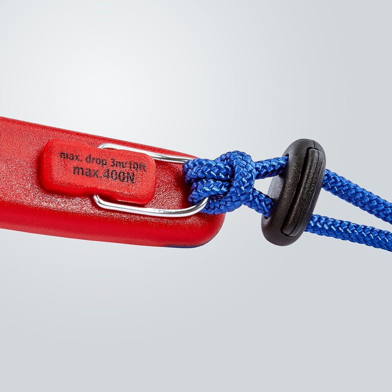 Multicolore Knipex 26 12 200 T Pince Demi-Ronde avec Tranchant Gaines bi-mati/ère avec /œillet int/égr/é pour Fixation d/'Un Dispositif antichute 200 mm