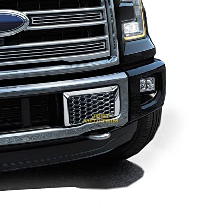 Justautotrim Front Bottom Bumper Moulding Chrome Cover trims Kit for 2015 2016 2020 Ford F150 F-150 Accessories: Automotive