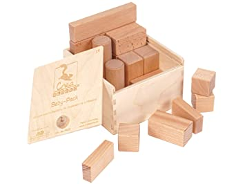 Wooden Blocks Toddlers Package 22 Natural Building Blocks