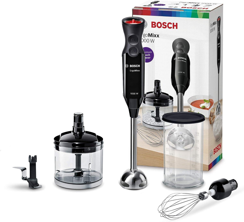 Bosch MS61B6170 ErgoMixx Batidora mano, 1000 W, Acero, 12 ...