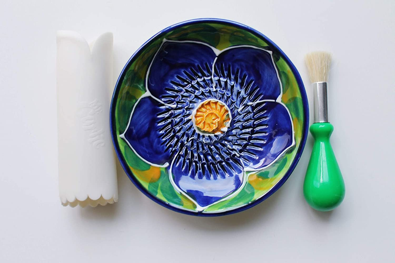 JOSKO Produkte 2738 Sofia cer/ámica Juego de platos de desayuno color morado y verde