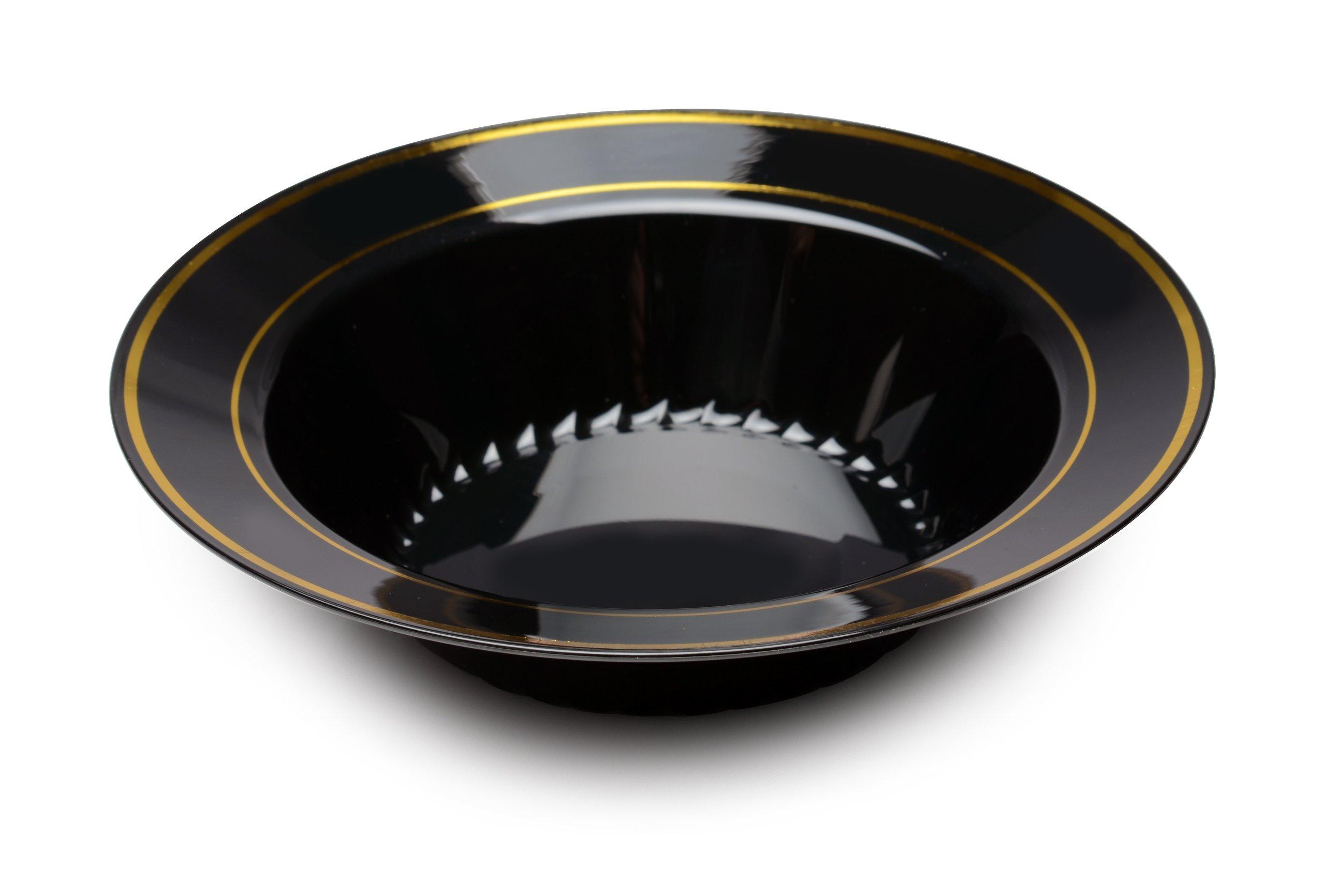 Fineline 12 oz Silver Splendor Bowl (Case of 150) (15 x 10), Black/Gold