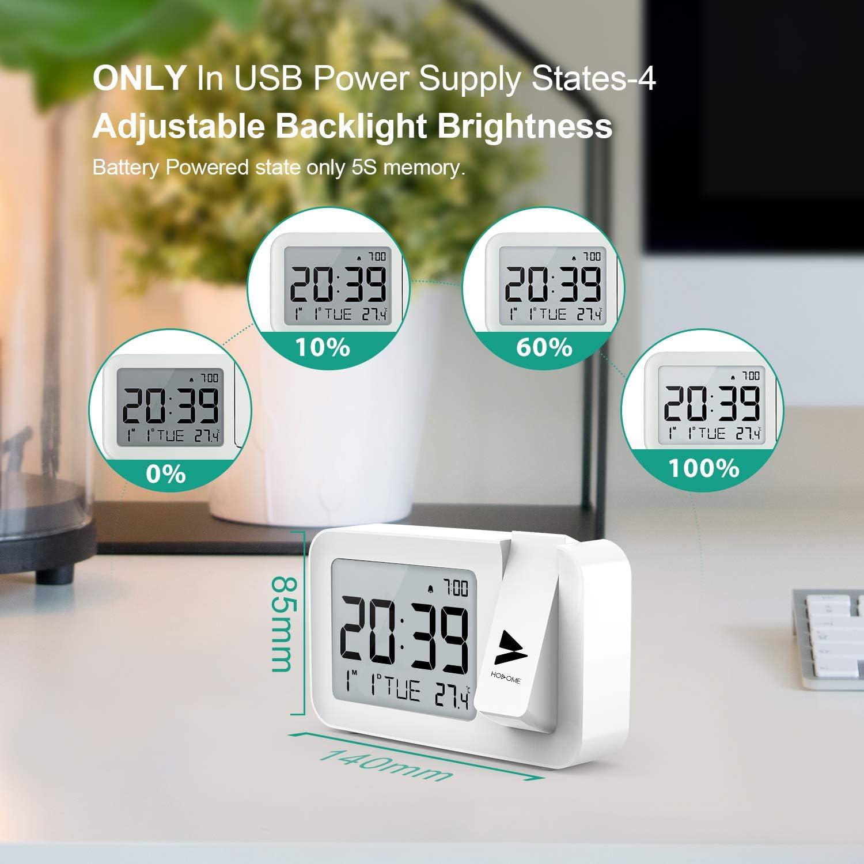 Amazon.com: Hosome - Reloj despertador de proyección digital ...