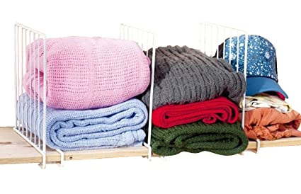 Bekith Housekeeping Accessories Coated Wire Closet Shelf Dividers, Clothes  Organizer U0026 Storage, ...