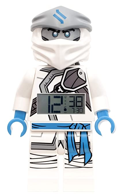 Amazon.com: LEGO Ninjago Zane Alarm Clock, White, 9 Inches ...