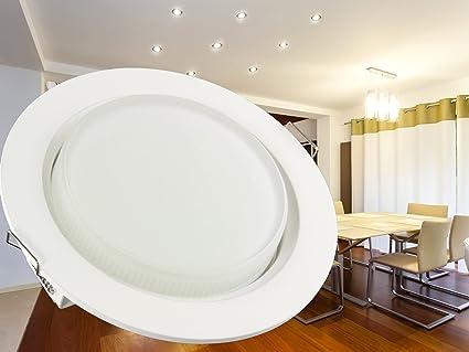 LED Einbau-Leuchten Set flach, 10 Stück Decken-Einbaustrahler 230V ...
