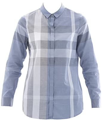 BURBERRY Women s 40501634064B Light Blue Cotton Shirt  Amazon.co.uk   Clothing 68506820c8