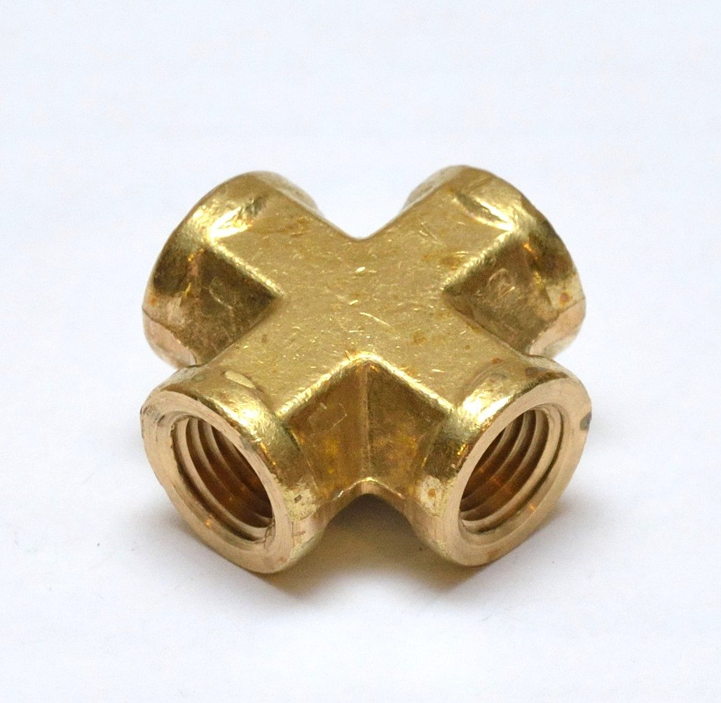 """Made of High Quality Brass 1//4/"""" MPT x 1//4/"""" FPT Fitting splitter Brass Y"""