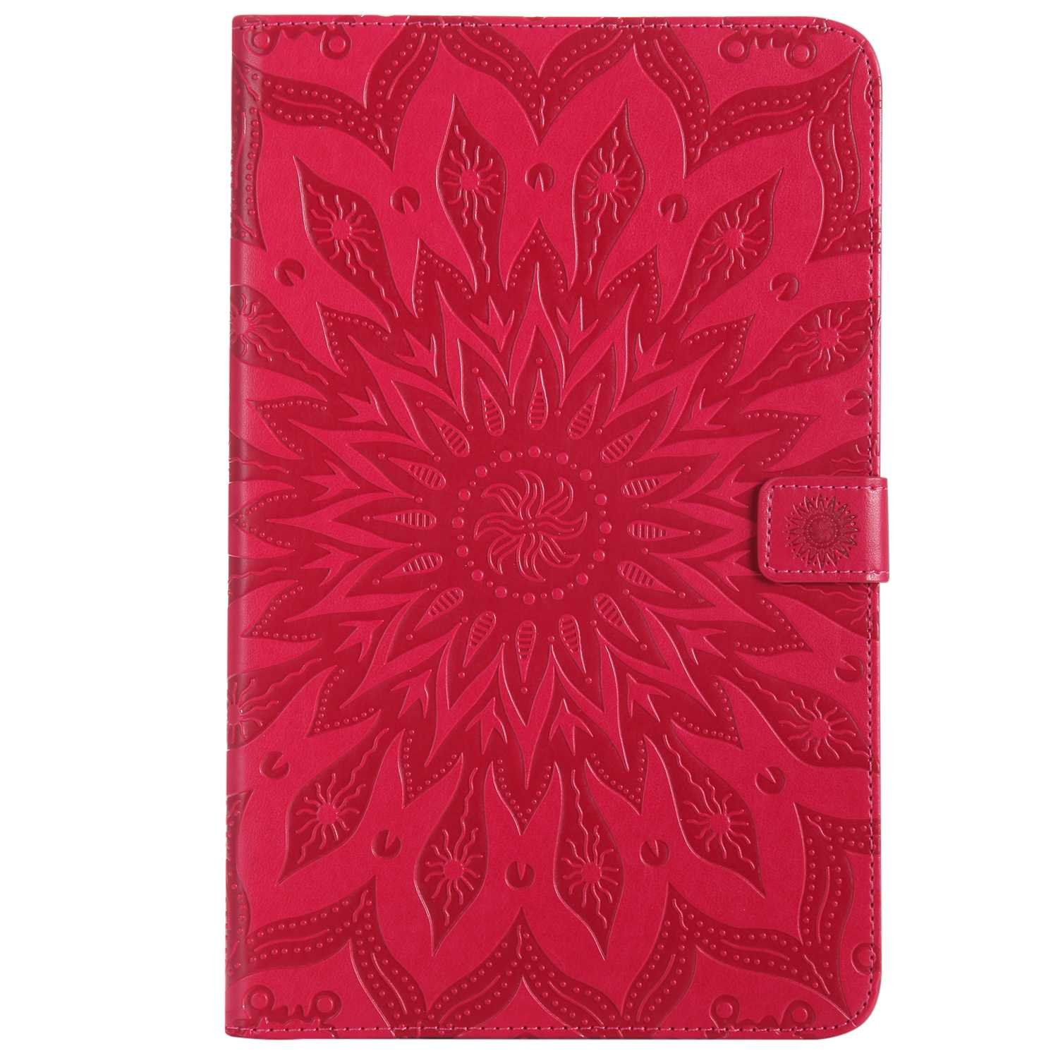 Bear Village Galaxy Tab e 9.6 Inch Case, Anti Scratch Shell with Adjust Stand, Full Body Protective Cover for Samsung Galaxy Tab e 9.6 Inch, Red