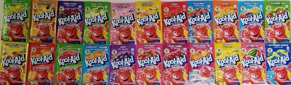Kool Aid Bucket List 44 ct pack- 2 each of 22 flavors