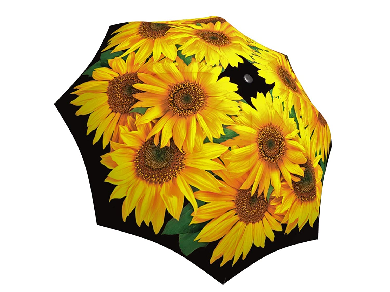 Windproof Folding Automatic Open Close AUT-028 LA BELLA UMBRELLA Sunflower Designer Unique Art Travel Fashion Umbrella in Stylish Gift Box
