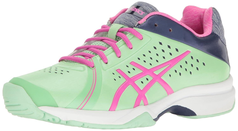 ASICS Women's Gel-Court Bella Tennis Shoe B01H31XAJQ 8.5 B(M) US|Paradise Green/Pink Glow/Indigo Blue