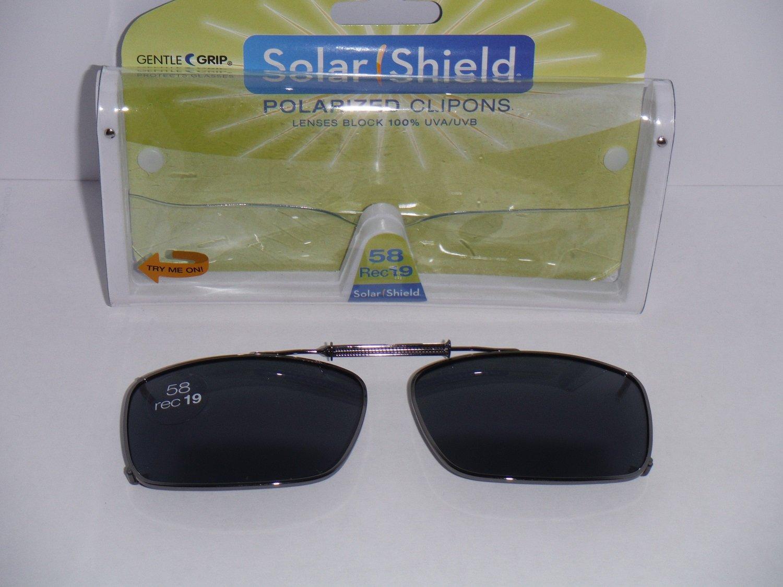 3471e5edab Amazon.com  Solar Shield Polarized Clip-on Sunglasses 58 Rec 19 Gray Lenses  Fits Full Frame  Health   Personal Care