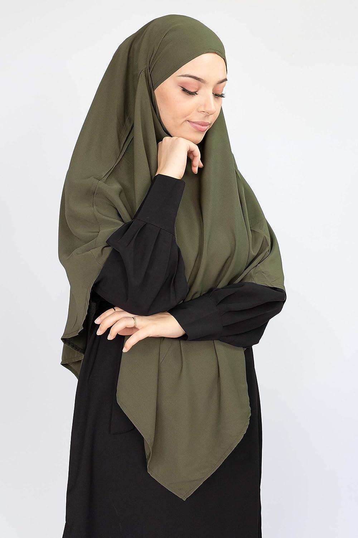 Velo da donna ConfectionsOumK fascia integrata da annodare senza spilla Stile Khimar opzione Niqab e Lungo Hijab