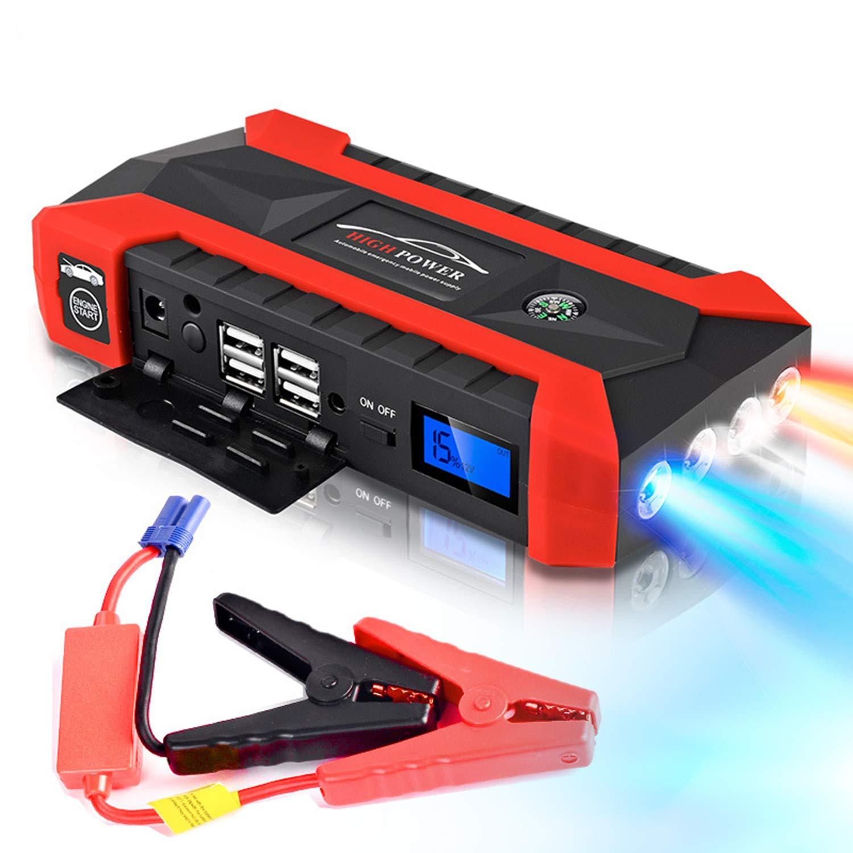12v Jump Starter Car Emergency Start Power Car Multi-Function Mobile Car Battery 12V Diesel Gasolone Double Start 1 Pack (JX29 20000mAh Carring Box Packing, Black/Orange) by Yourshops