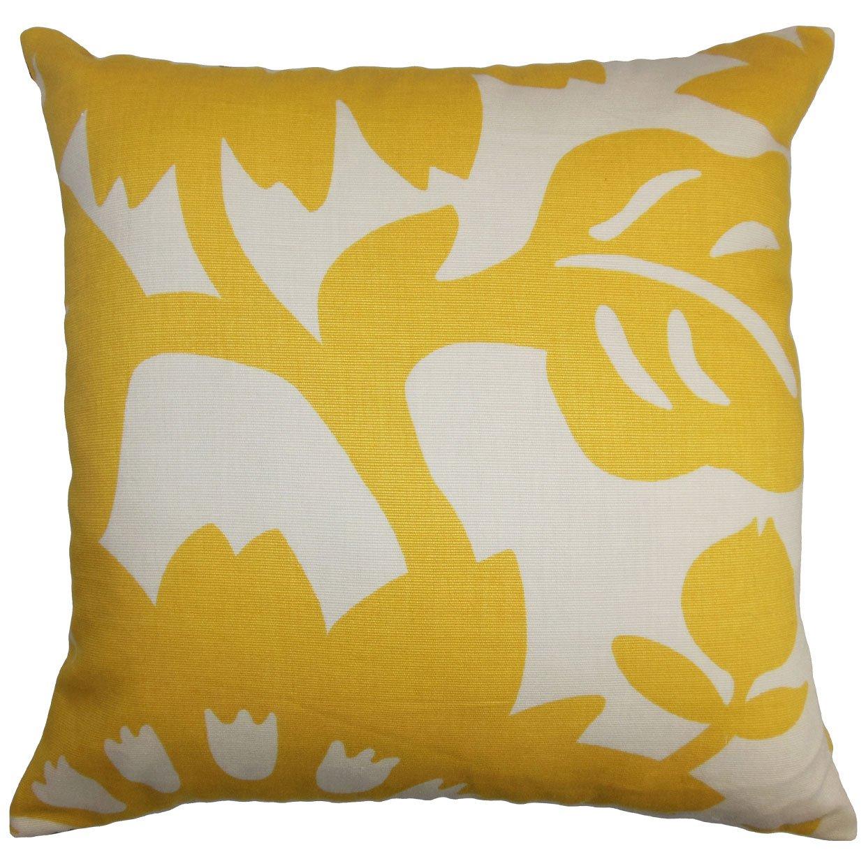 The枕コレクションp20-d-20872-sungold-c100 Fayreフローラル枕、イエロー、20