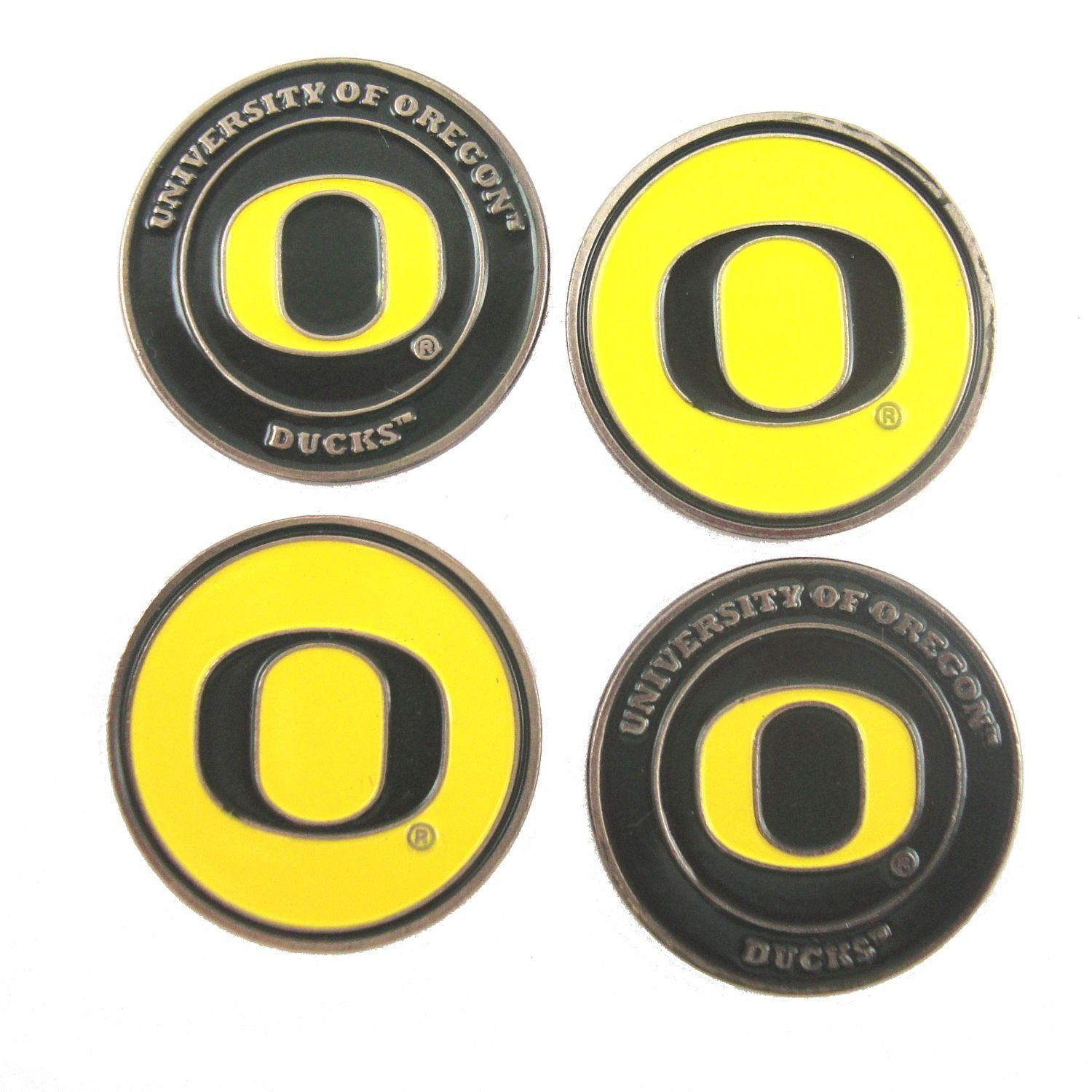 6ceb7ab69ba Amazon.com   Oregon Ducks Double Sided Golf Ball Markers (Set of Four)    Sports   Outdoors