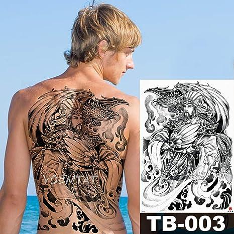 tzxdbh Gran Gran Espalda Completa Pecho Tatuaje Etiqueta Buda ...