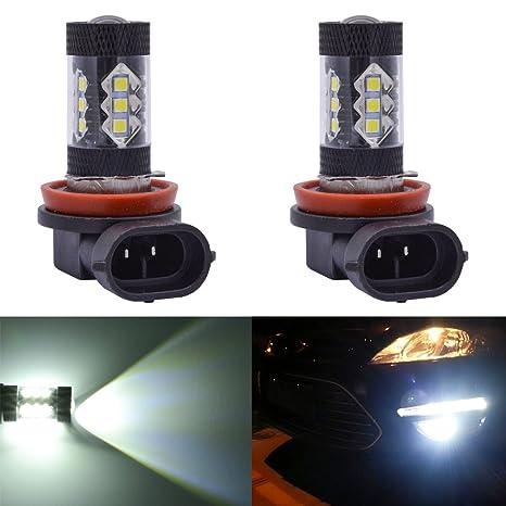 2 X H8 H11 6000K 16LED Car Fog DRL Driving Light Lamp Bulbs White Super Bright