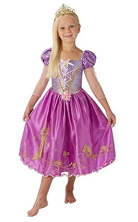 Rubies Disfraz Rapunzel Storyteller Deluxe Inf, Multicolor, 7-8 años/Large (
