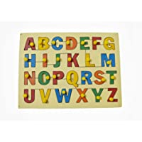 Wooden Capital ABC Removable Puzzle for Kids