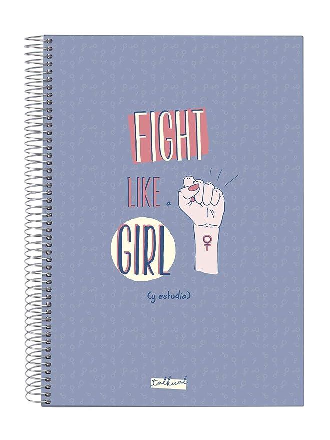LIBRETA TALKUAL A4 LILA-GIRL