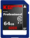 Komputerbay 64GB SDXC Secure Digital Extended Capacity Speed Class 10 600X UHS-I Ultra High Speed Flash Memory Card 40MB/s Write 90MB/s Read 64 GB