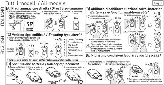 Sice 2613020/Ditec Gol4/Original Remote Control